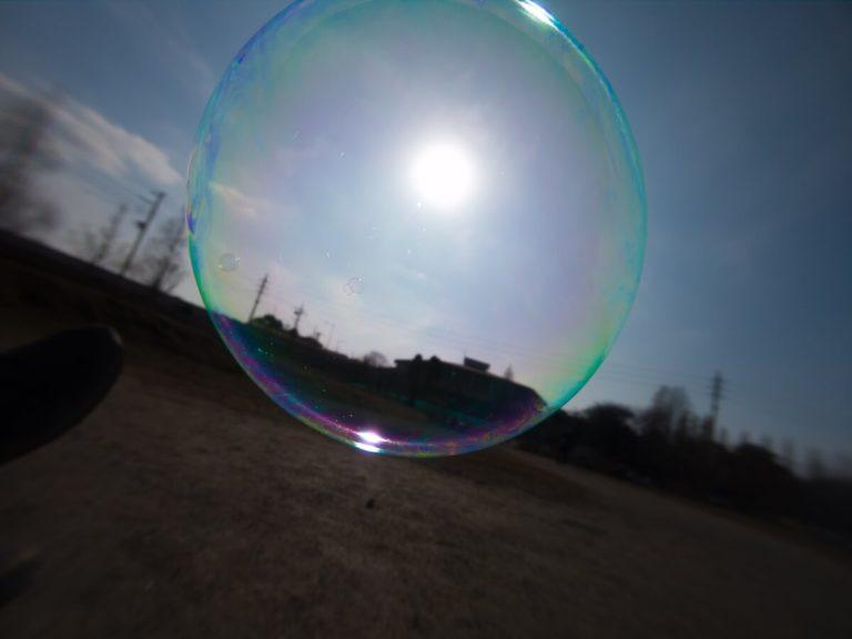 GoProで撮影したシャボン玉