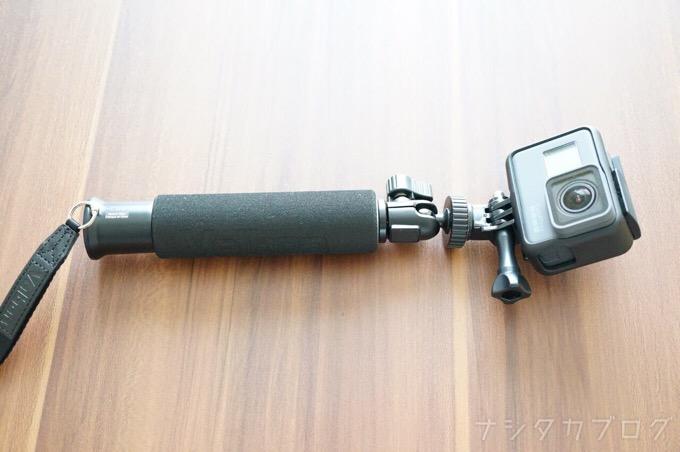 ベルボン自撮り棒にGoPro HERO5を装着