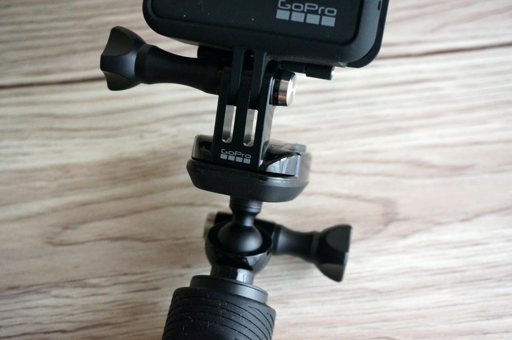 GoProを取り付けたところ