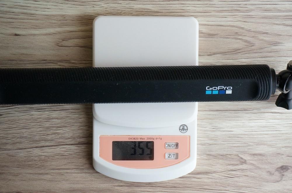 GoProエルグランデの重さは355g