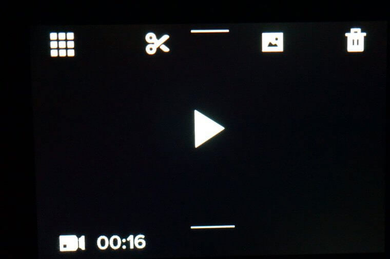 GoPro HERO5 BLACKの動画メニュー