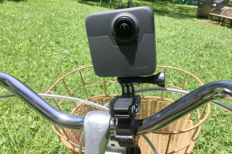 自転車にハンドルバーシートポストマウントでGoPro Fusionを取り付け
