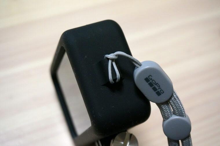 GoPro HERO8用スリーブ+ランヤードの取り付け部分