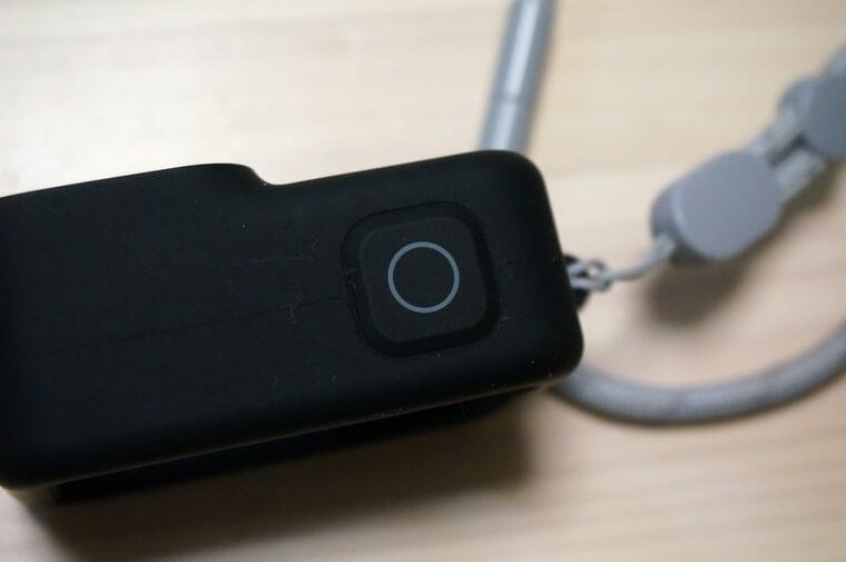 GoPro HERO8用スリーブ+ランヤードのシャッターボタン部分