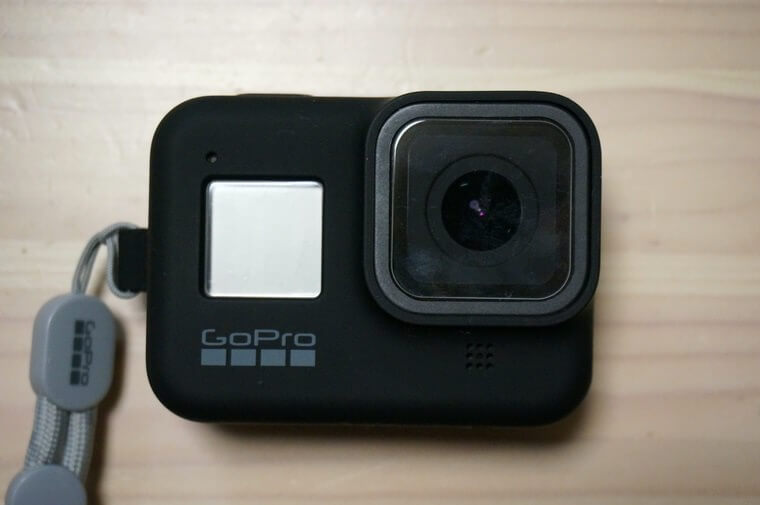 GoPro HERO8用スリーブ+ランヤードのブラックカラー
