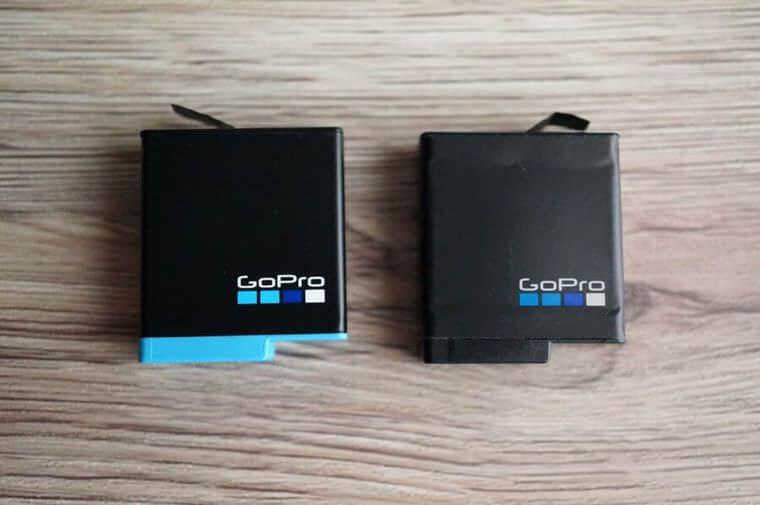 GoProの新旧バッテリー