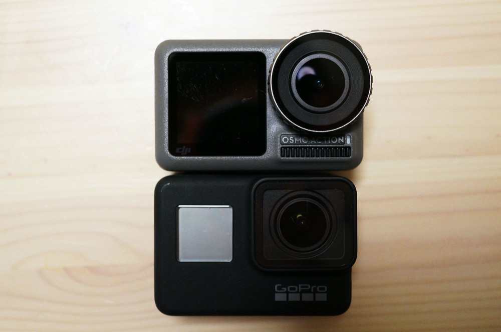 Osmo ActionとGoPro HERO7 Black
