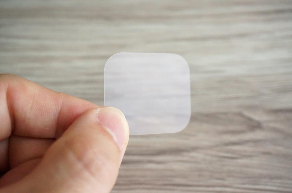 粘着パッド小用の透明カバー