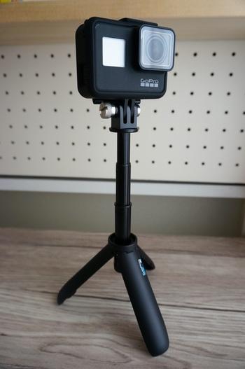 GoPro ShortyにHERO7 Blackをつけて三脚で撮影