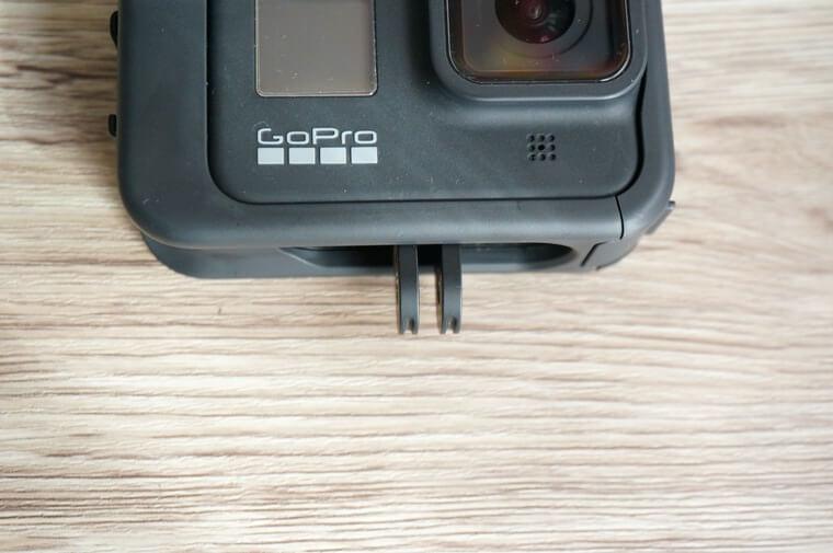 GoProメディアモジュラーでビルドインマウントを立てたところ