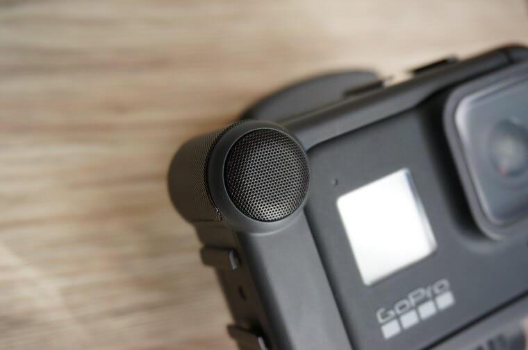 GoProメディアモジュラーの内蔵指向性マイク