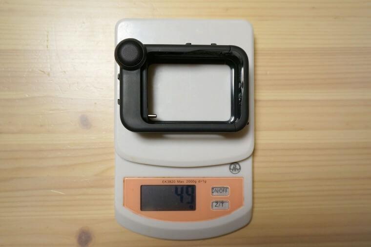 GoProメディアモジュラーの重さ