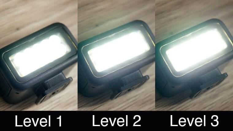 GoProライトモジュラーの明るさ調節