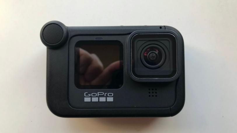 GoPro HERO9用メディアモジュラーを装着