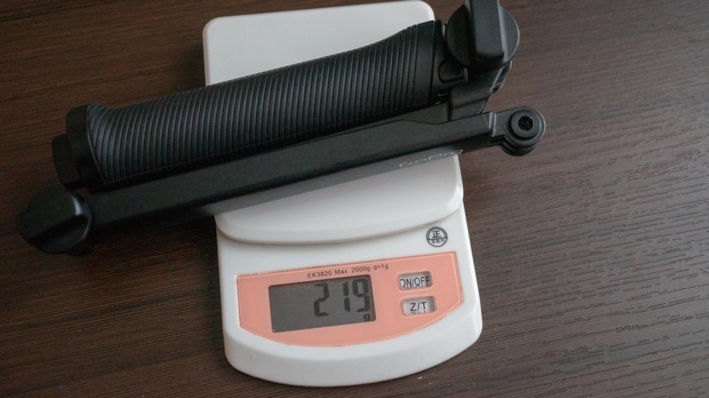 GoPro純正3-Wayの重さ