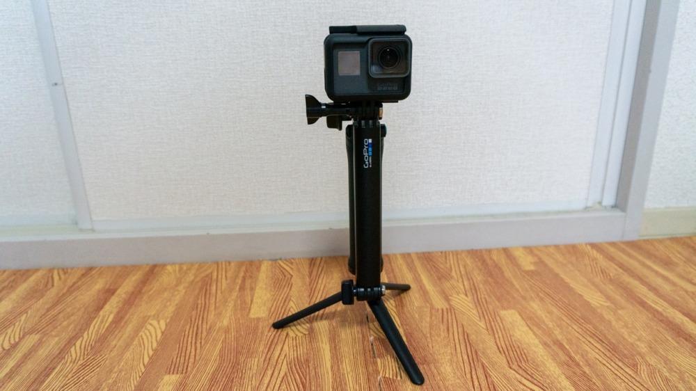 GoPro純正3-Wayで固定撮影