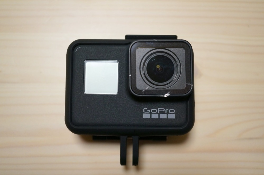 GoPro HERO7 Blackに新しいディヤードフレームケースを装着
