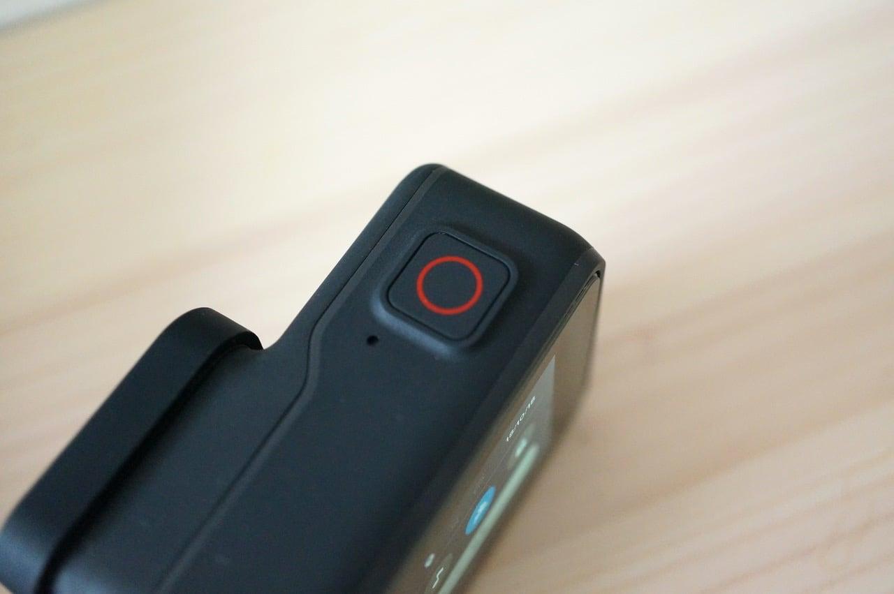 Gopro hero7blackの録画ボタン