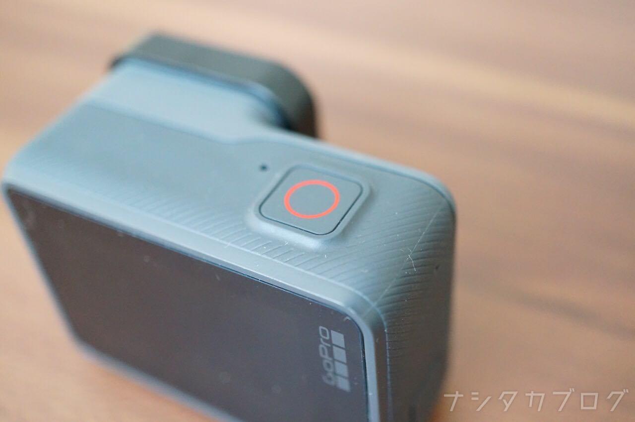 GoProの録画ボタン
