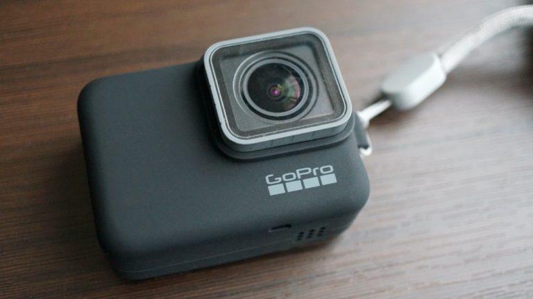 GoProにスリーブを装着