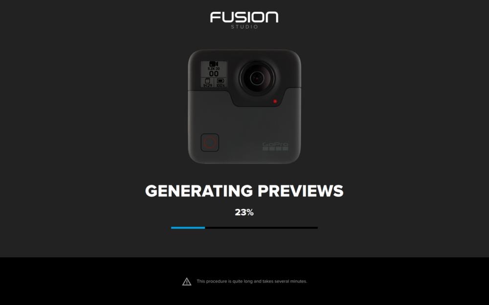 Fusion Studioの読み込み画面