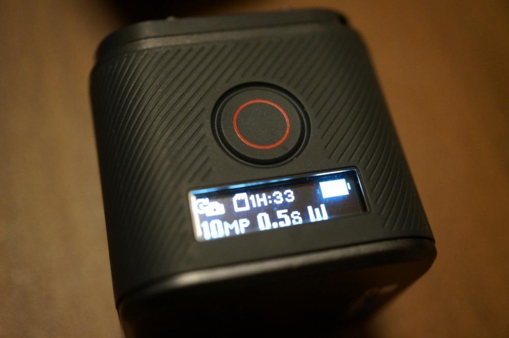 HERO5 Sessionのカメラステータススクリーン