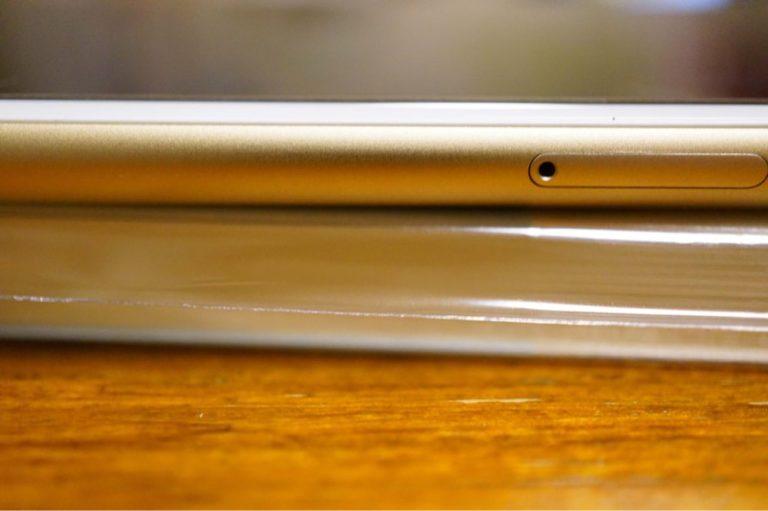 MDノートとiPhone6Plusの厚み比較