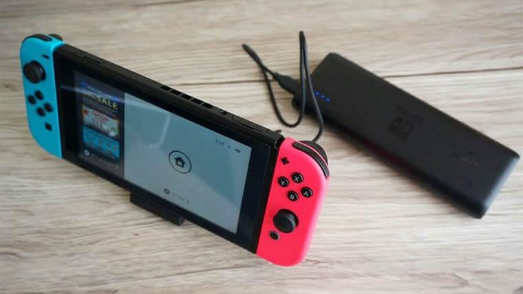 ニンテンドースイッチ充電スタンドとモバイルバッテリー