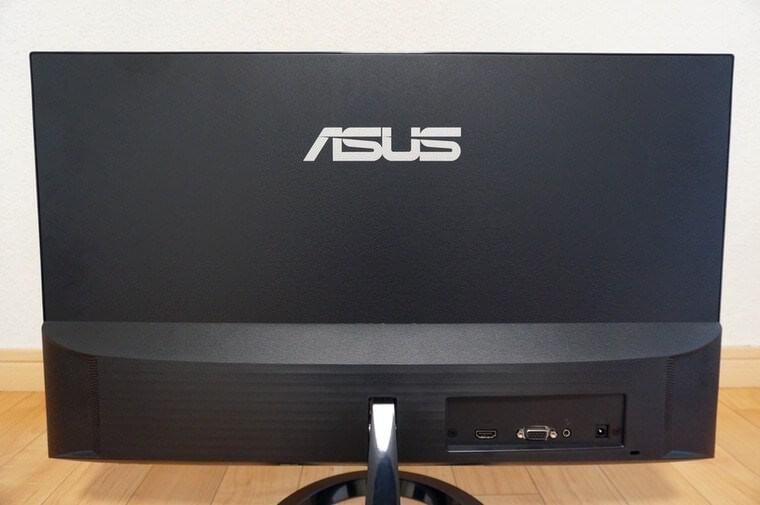 ASUS23.8インチモニター(VZ249HR)の背面