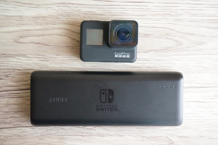 Anker PowerCore 20100 Nintendo Switch EditionとGoPro HERO7 Black