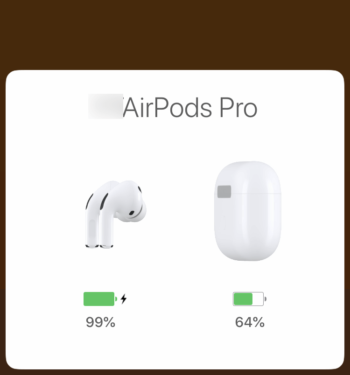 iPhoneでAirPods Proの表示