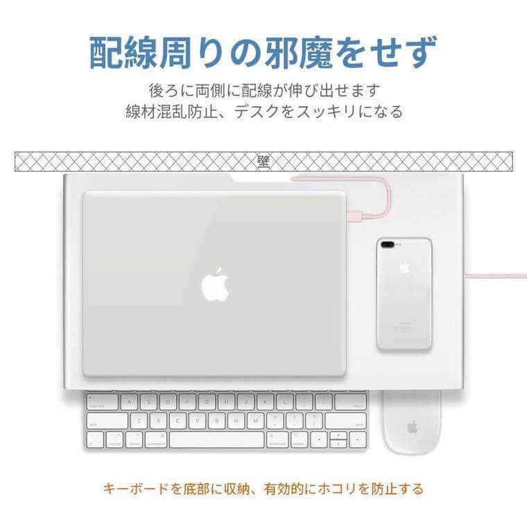 Mac用アルミスタンドの配線周り