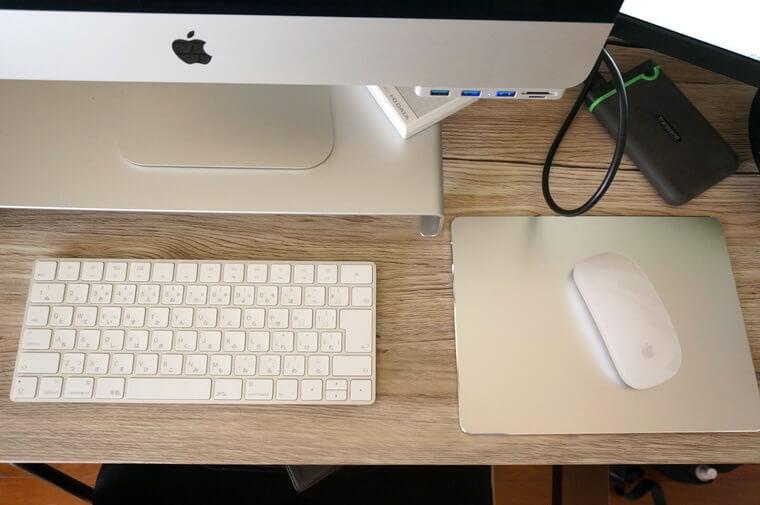 Mac用アルミマウスパッドを並べたところ