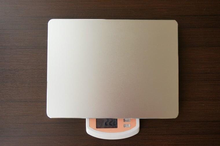 Mac用アルミマウスパッドの重さ